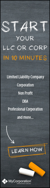 Start an LLC or Corporation in just 10 Minutes 160x600
