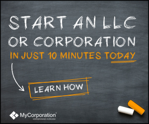 Start an LLC or Corporation in just 10 Minutes 300x250